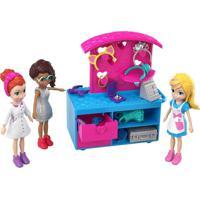 Polly Pocket 3 Bonecas Quiosque De Moda E Lanchinhos -Mattel - Kanui