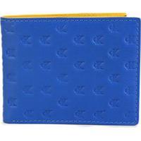 Carteira Couro Calvin Klein Reissue Colors Masculina - Masculino-Azul Navy