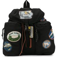 Go To Hollywood Badge Embroidered Backpack - Preto