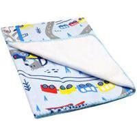 Cobertor Bebê Masculino Antialérgico Azul Carrinhos - Bambi - Tamanho Único - Azul