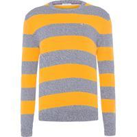 Sweater Masculino Rugby Stripe - Amarelo