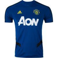 Camisa De Treino Manchester United 19/20 Adidas - Masculina - Azul/Preto
