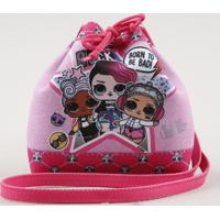 Bolsa Saco Infantil Lol Surprise Estampada Rosa