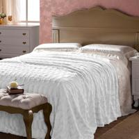 Manta De Plush Dupla Face Queen 240X260 Branco