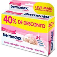 Kit 2 Dermodex Prevent Creme Prevenção De Assaduras 60G - Unissex-Incolor