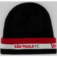 Gorro New Era São Paulo Preto E Vermelho