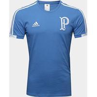 Camiseta Palmeiras Viagem Adidas Masculina - Masculino-Azul
