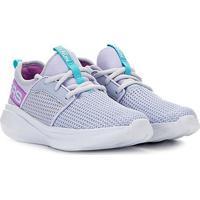 Tênis Infantil Skechers Go Run Fast Feminino - Feminino-Cinza+Lilás