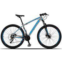 Bicicleta Aro 29 Quadro 17 Alumínio 27 Marchas Freio Disco Hidráulico Z3-X Cinza/Azul - Dropp