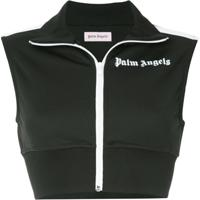 Palm Angels Colete Cropped - Preto