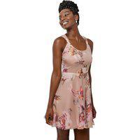 Vestido Feminino Curto Floral Organza