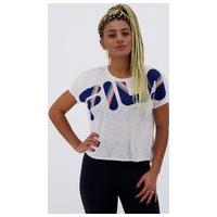 Camiseta Fila Honey Ii Feminina Branca E Azul