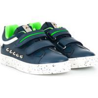 Cesare Paciotti Kids Tênis Com Velcro E Tachas - Azul