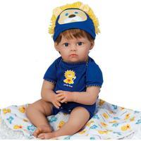 Boneca Reborn Lions + Tigers & Bears - Loiro & Azul-Shiny Toys