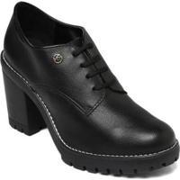 Sapato Oxford Via Marte 19-5902 Verniz Show - Feminino-Preto