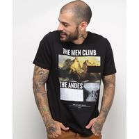 Camiseta Treebo The Andes Masculina - Masculino-Preto