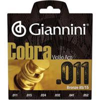 Encordoamento Em Aço Para Violão Geeflk011 Giannini
