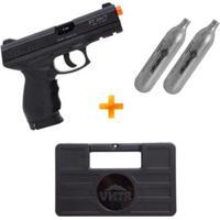 Kit Pistola Airsoft A Gás Co2 Pt24/7 Cybergun + 2 Cilindros Co2 + Maleta Rígida - Unissex