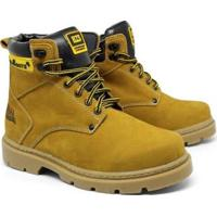 Bota Bell Boots Vaqueiro Em Couro Nobuck Catter Masculina - Masculino-Amarelo Claro