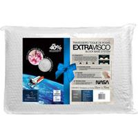 Kit Com Travesseiros Extravisco Toque De Rosas Branco - Fibrasca
