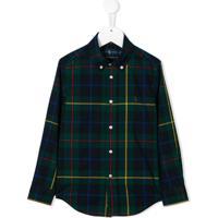 Ralph Lauren Kids Camisa Com Estampa Xadrez - Verde