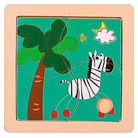 Quebra-Cabeça - Zebra (4 Peças)