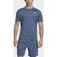Camiseta Adidas Design 2 Move Masculina - Masculino-Azul