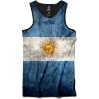 Regata Bsc Bandeira Argentina Sublimada Masculina - Masculino-Branco+Azul