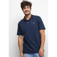 Camisa Polo Hd Polo Basic Fit Mini Logo Masculina - Masculino-Marinho