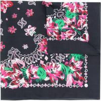 Kenzo Lenço Bandana Floral - Preto