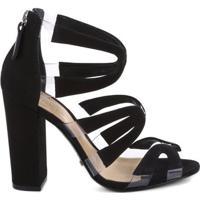 Sandália Vinil Stripes Black | Schutz