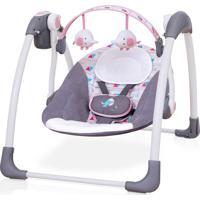 Cadeira De Descanso Balanço Automático 11Kg Premium Rosa Com Plush Toys