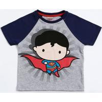Camiseta Infantil Estampa Super Homem Liga Da Justiça