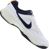 Tênis Nike Court Lite - Masculino - Branco/Azul Esc
