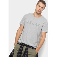 Camiseta Foxton Estampa Relax Masculina - Masculino-Mescla