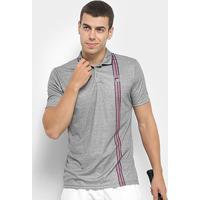 Camisa Polo Fila Aztec Box Stripe Masculina - Masculino-Mescla