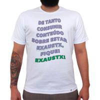 Fiquei Exaustx - Camiseta Clássica Masculina