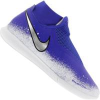 Chuteira Futsal Nike Phantom Vivsn Academy Df Ic - Adulto - Azul/Branco