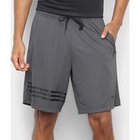 Bermuda Adidas E Pln Masculina - Masculino-Chumbo
