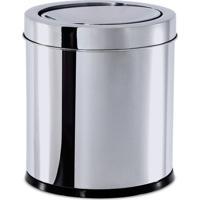Lixeira Com Tampa Basculante- Inox- - 5,4L- Brinox
