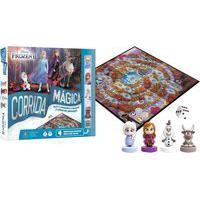 Jogo De Tabuleiro Copag Corrida Mágica Frozen 2 Com Miniaturas Azul
