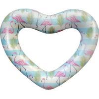 Bóia Inflável Gigante Coração Flamingo - Unissex