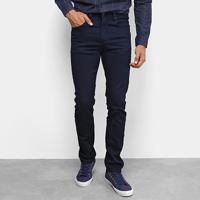 Calça Jeans Calvin Klein Five Pockets Slim Masculina - Masculino-Marinho
