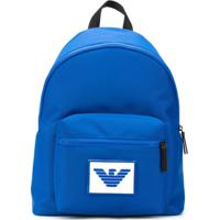 Emporio Armani Logo Patch Backpack - Azul