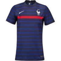 Camisa Seleção Da França I 20/21 Nike - Feminina - Azul Esc/Branco