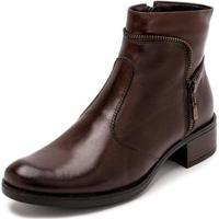 Bota Sandalo Clave De Fa Sitar Brown Feminina - Feminino-Marrom