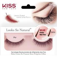 Cílios Postiços Kiss Ny - Looks So Natural Shy Pack Unitário - Unissex-Incolor