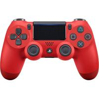 Controle Sony Dualshock 4 Magma Red Sem Fio (Com Led Frontal) Ps4