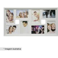 Painel Para 8 Fotos- Branco- 31X61X6Cm- Kaposkapos