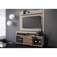 Rack Belaflex Quebec Com Painel Para Tv Nobre Carvalho Viena/Malte
